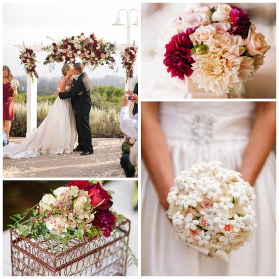 Ivory and Red Wedding at the Chaminade Resort and Spa, CA - My Hotel ...