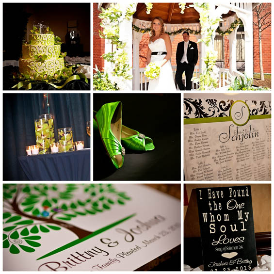 Lime Green and Black Wedding at the Holiday Inn - My Hotel Wedding