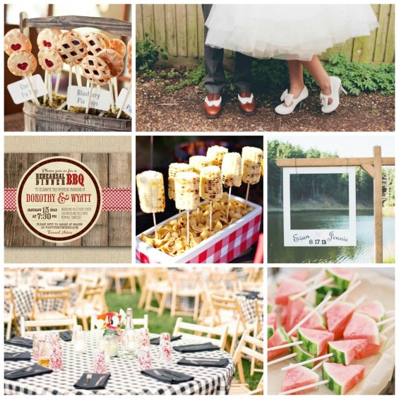 Outdoor Bbq Wedding Inspiration My Hotel Wedding