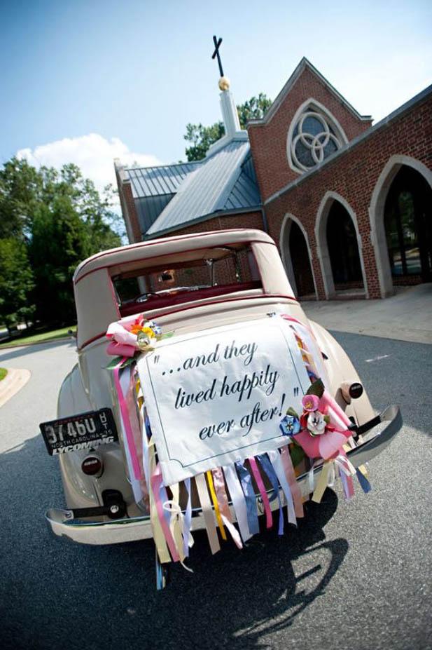 Exiting in Style - Wedding Car Decorations - My Hotel Wedding