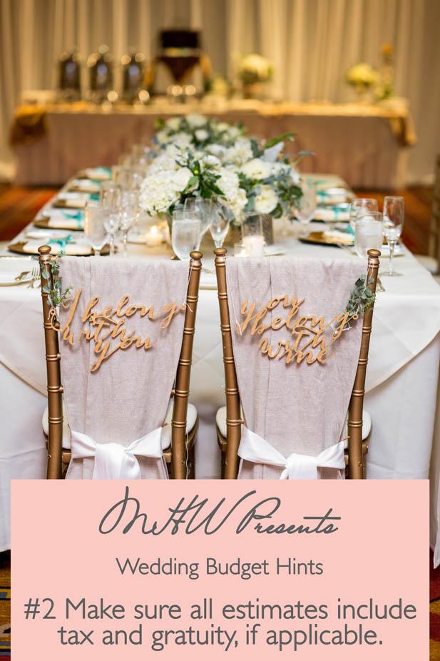 wedding budget hints continued my hotel wedding
