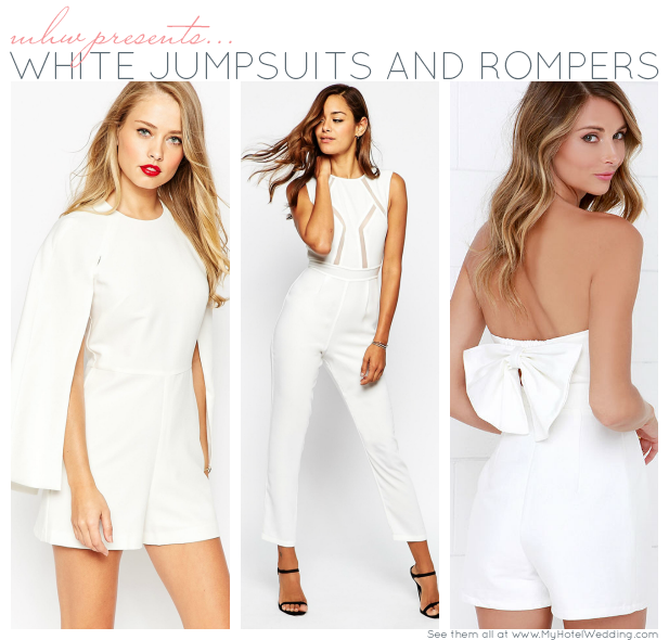 8 White Jumpsuits and Rompers - My Hotel Wedding