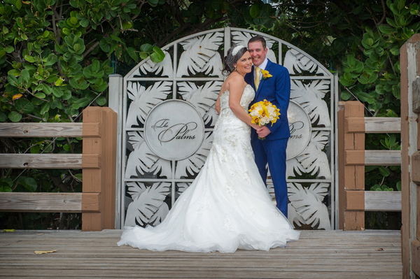 navy blue and yellow wedding at the palms hotel spa fl jeff kolodny