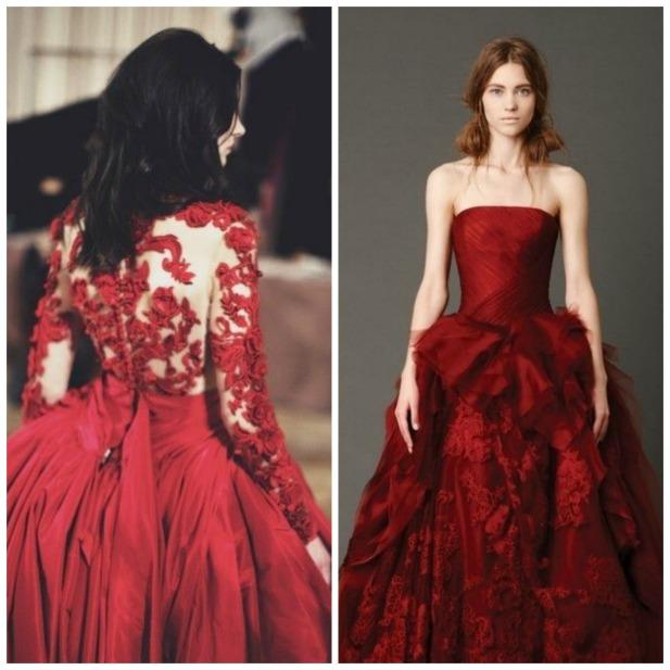 25 Daring Red Wedding Dresses