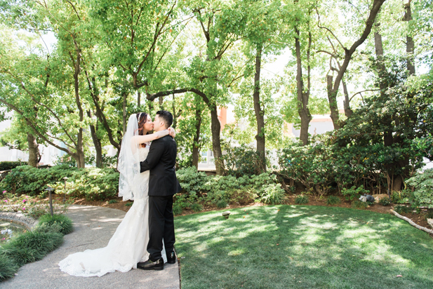Kyoto Gardens at Downtown Los Angeles Wedding at the DoubleTree by Hilton | Cameron Leung Photography | See more on My Hotel Wedding: https://www.myhotelwedding.com/blog/2016/11/01/downtown-los-angeles-wedding-doubletree-hilton/