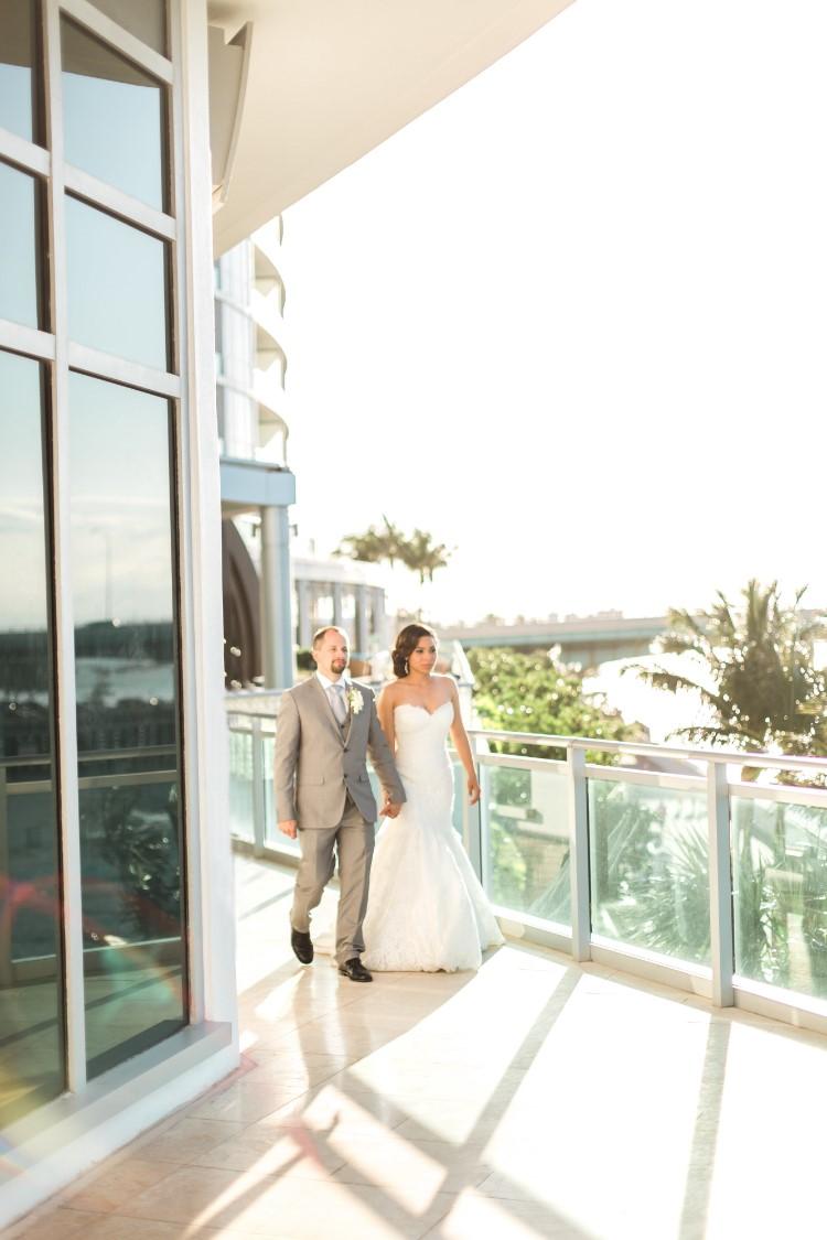 Beachy miami wedding at the ritz carlton bal harbour fl for Used wedding dresses miami