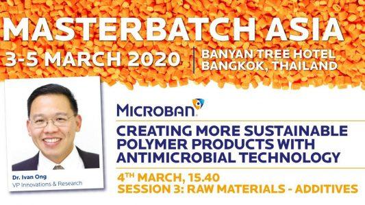 Microban to Guest Speak at Masterbatch Asia 2020