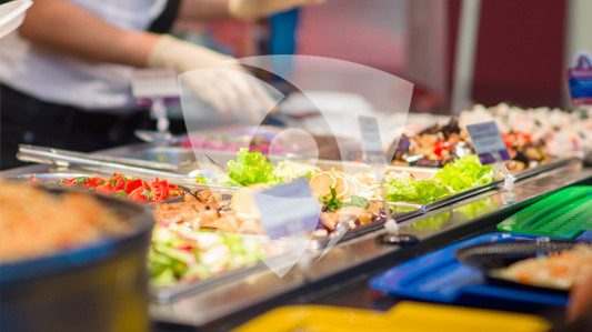 Integration of Built-in Antimicrobial Protection in the Food Service Industry