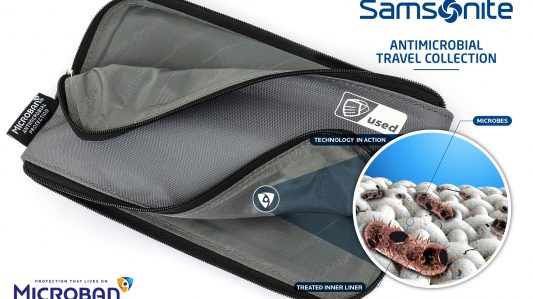 Samsonite® Launches Antimicrobial Travel Essentials Collection Enhanced With Microban®