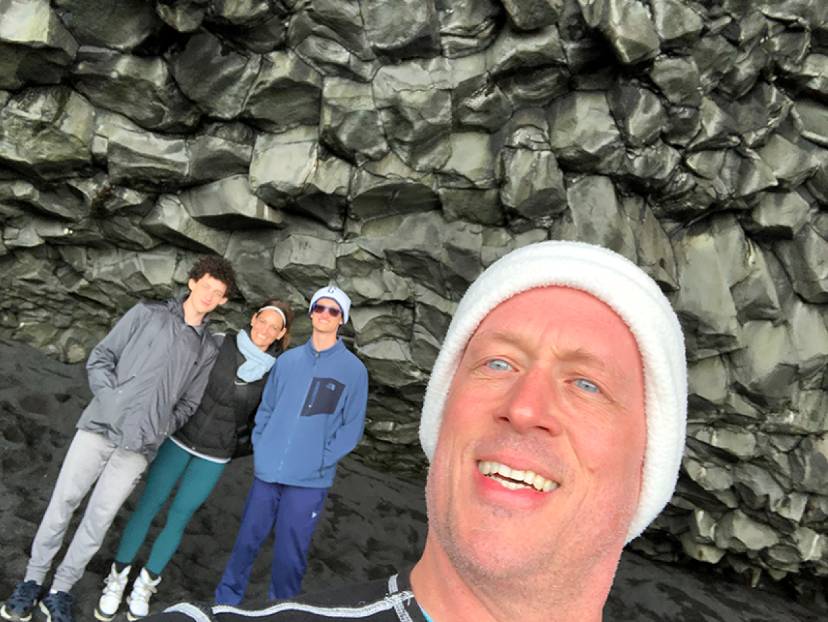 Gary Gagnon with family in Iceland - Meet The Team North America