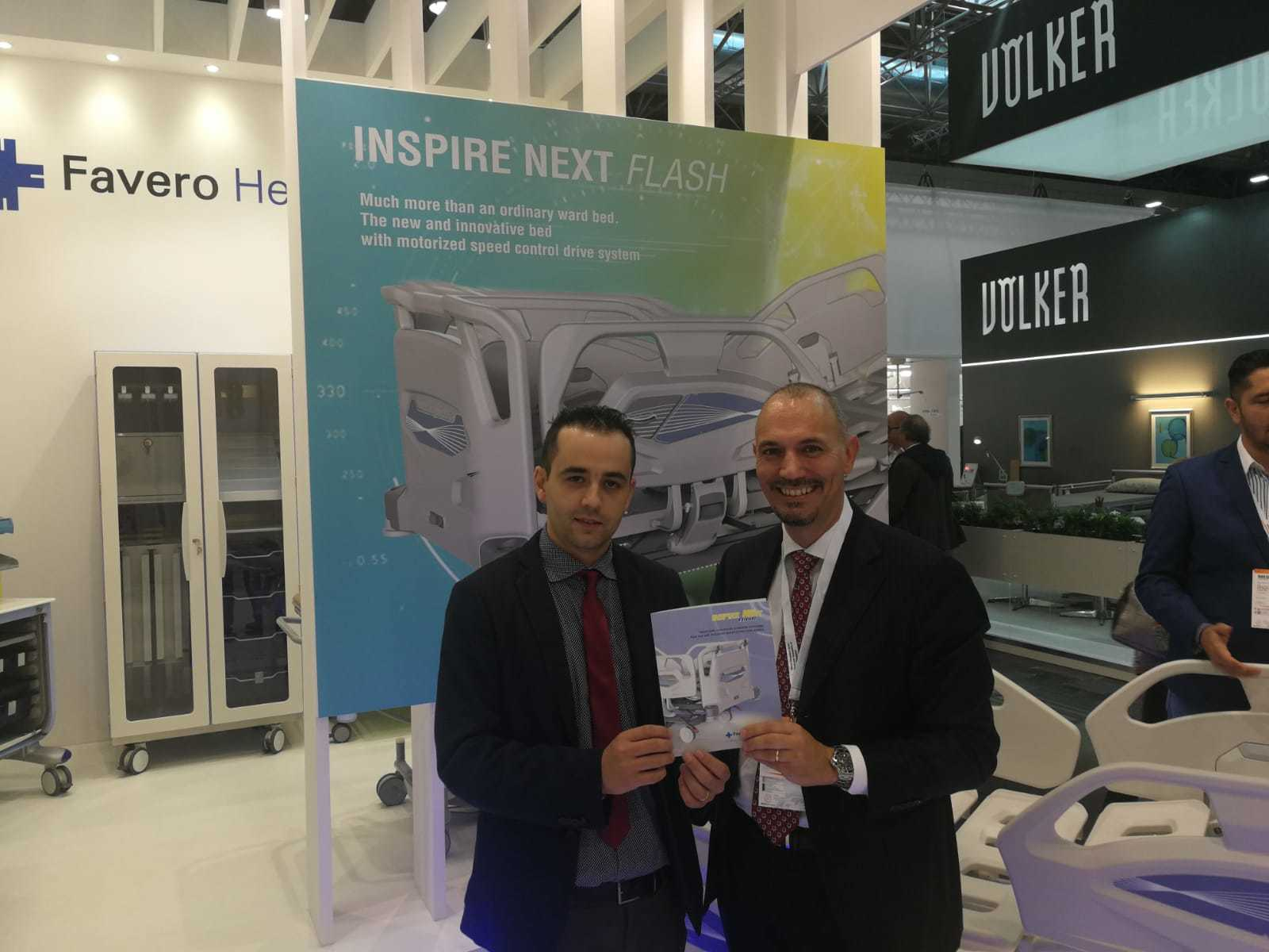 Favero Inspires Next Generation of Antimicrobial Hospital Beds at Medica 2018