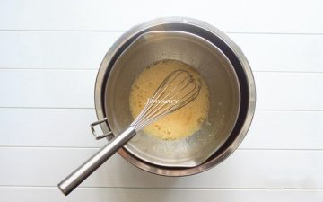 Put the eggs into the mixing bowl