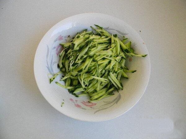 Cut the cucumber