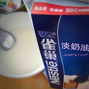 Add 100ml light cream