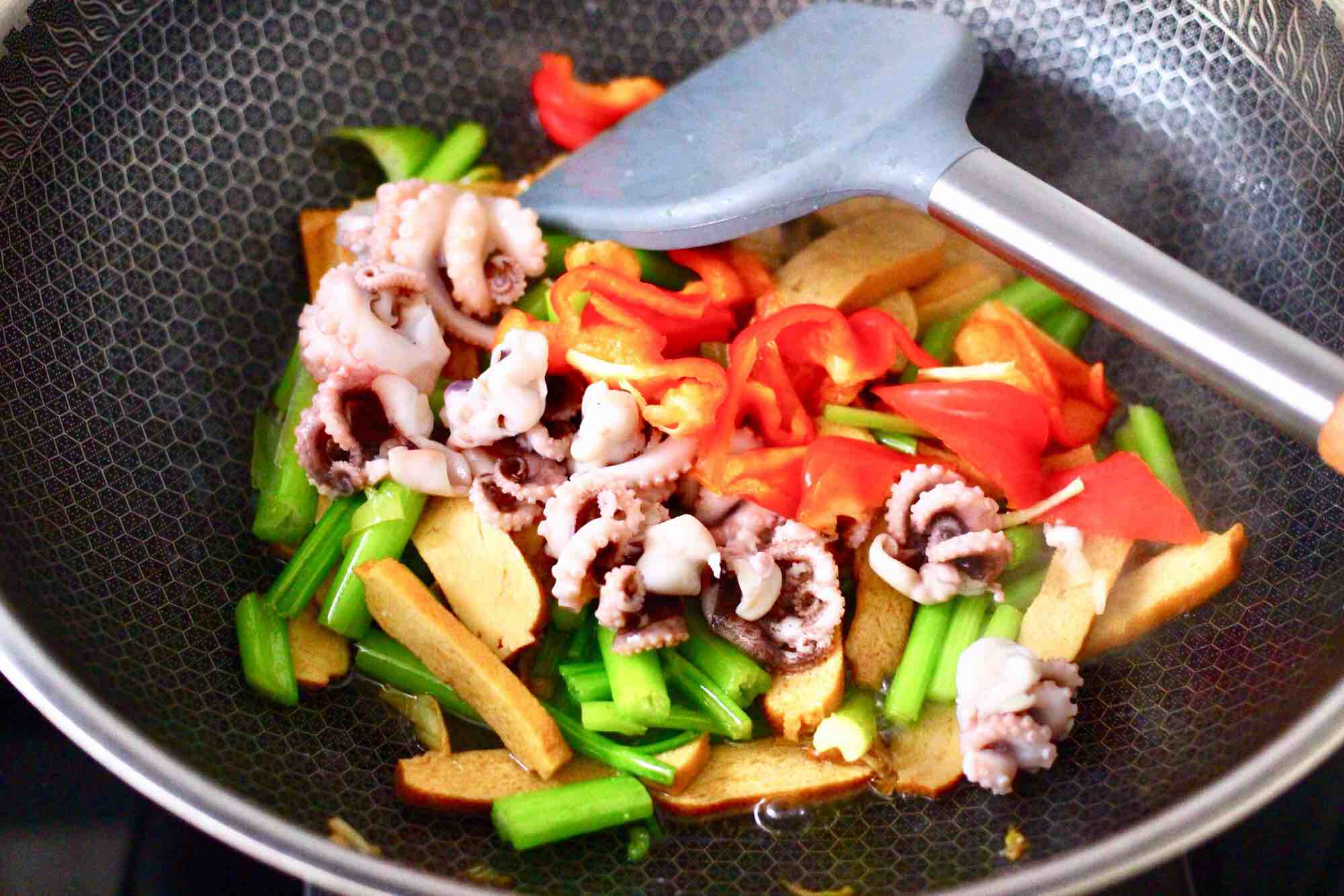 Stir-fried Cuttlefish Dried Tofu and Celery | Miss Chinese ...