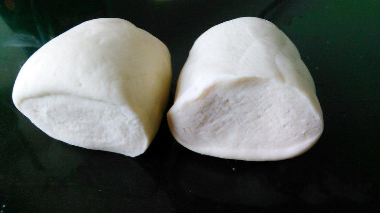 Divide the dough in half.