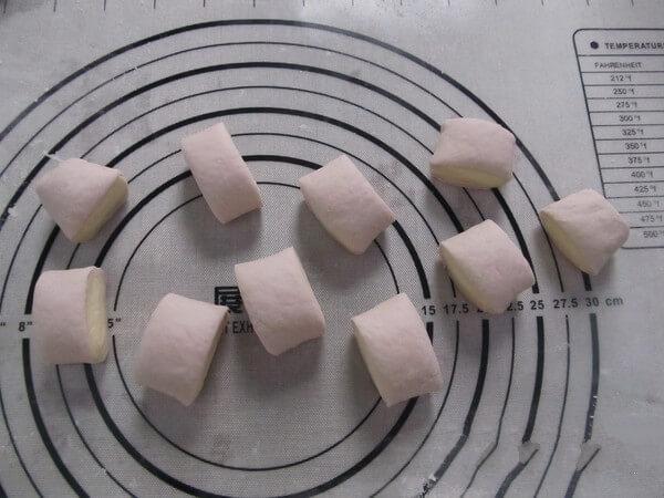 Cut into multiple small dough.