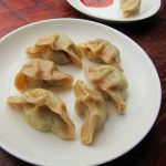 Two-color Steamed Dumplings with Lotus Root and Pork Filling