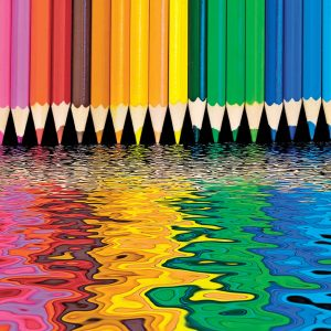 colored pencils puzzle for sale