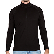 029fa7af MERIWOOL Merino Wool Men's Half Zip Mock Turtleneck Pullover Sweater