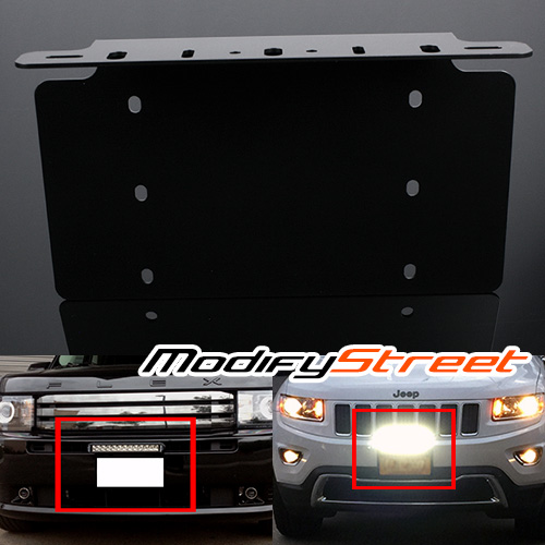 1 x front bumper led light baroffroad driving lamps license plate 1 x front bumper led light baroffroad driving lamps license plate mount bracket aloadofball Image collections