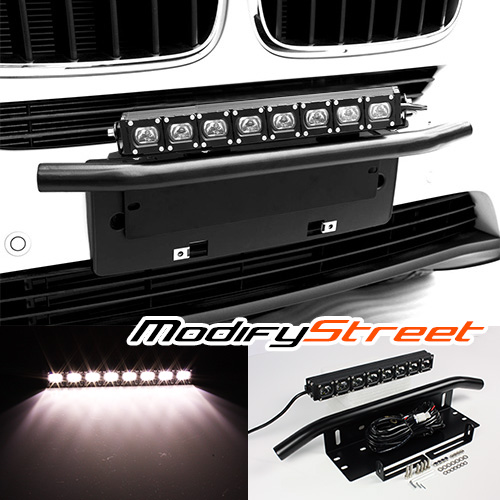 Heavy duty license plate mount bracketbull bar40w led light bar heavy duty license plate mount bracketbull bar40w led light bar truck mozeypictures Images