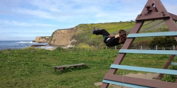 Davenport Landing Beach: For Surfers and Swingers