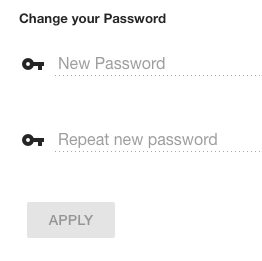 new password fields