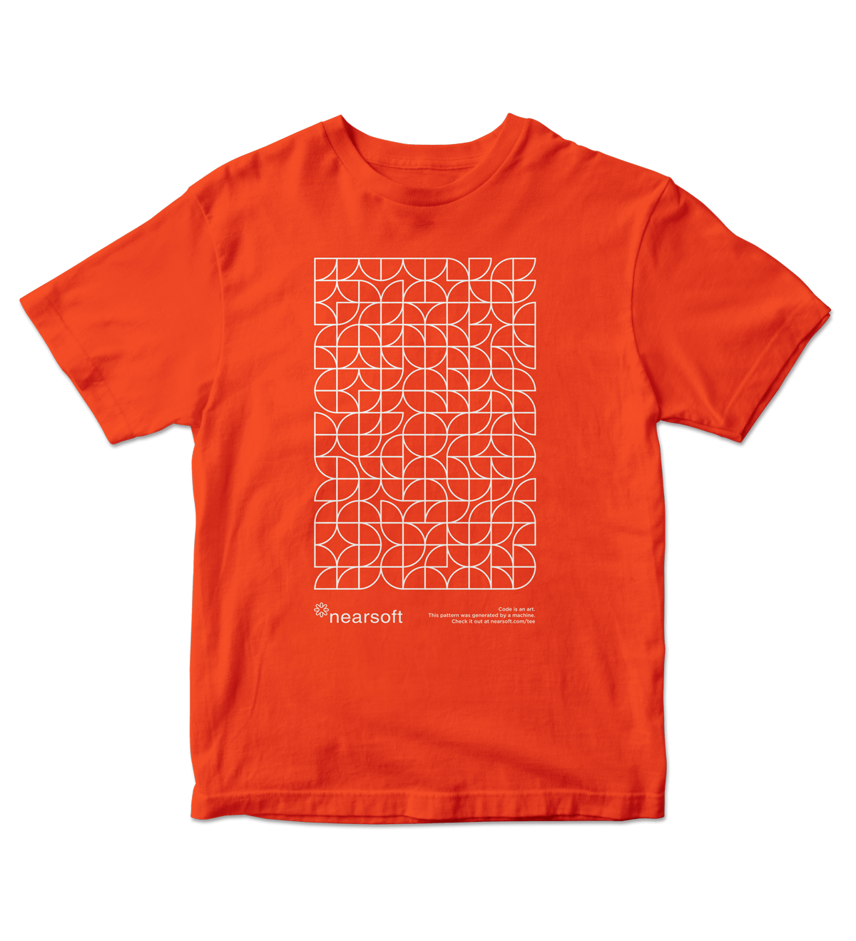 Nearsoft Code Tee - Orange