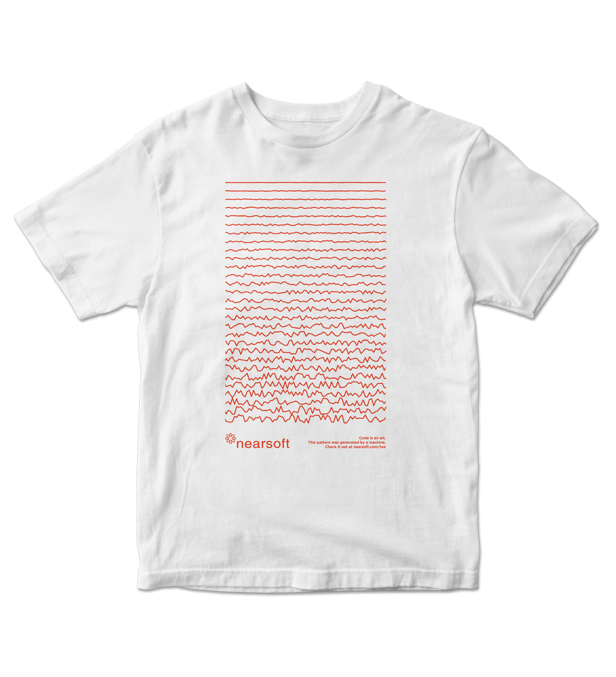 Nearsoft Code Tee - White
