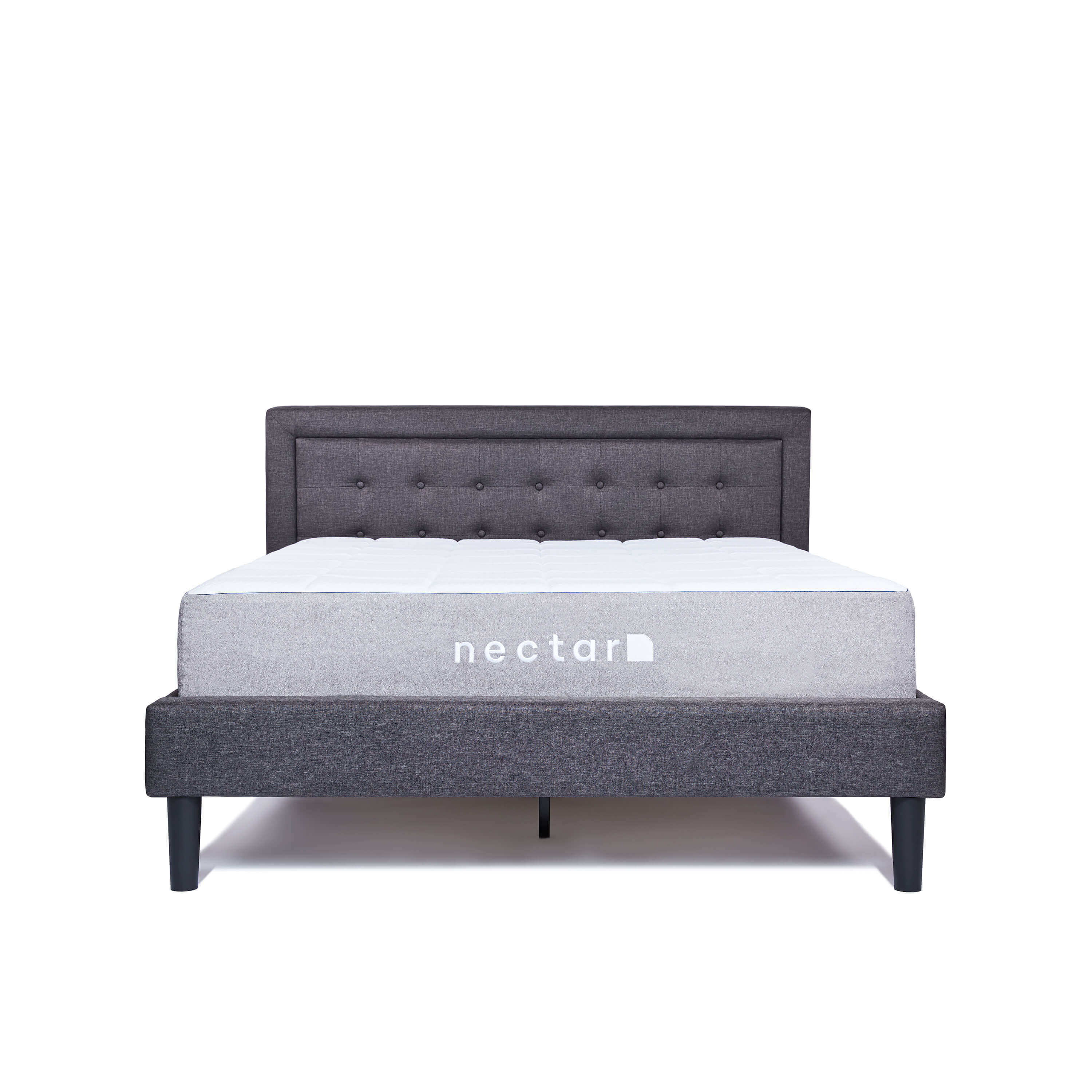Image of Nectar Full Bed Frame With Headboard - Grey