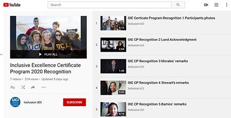 Inclusive Excellence Certificate Program