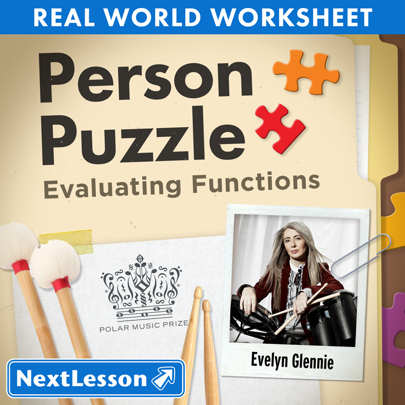 Person Puzzle Evaluating Functions Evelyn Glennie Worksheet – Evaluating Functions Worksheet