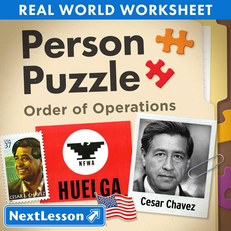 Person Puzzle Order of Operations Cesar Chavez Worksheet – Cesar Chavez Worksheet