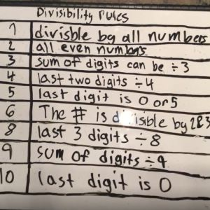 Learn about rules for divisibility.