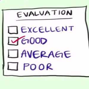 Learn about the term 'evaluation'.