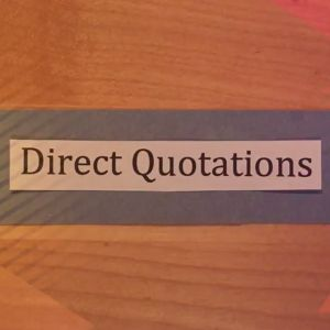 Learn about formatting quotations.