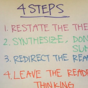 Learn four steps to writing a conclusion.