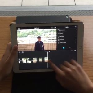 Learn how to make a video using the iOS iMovie app.