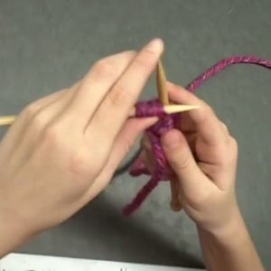 Learn how to knit the knit stitch.