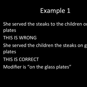 Learn about misplaced modifiers.