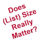 does list size really matter?