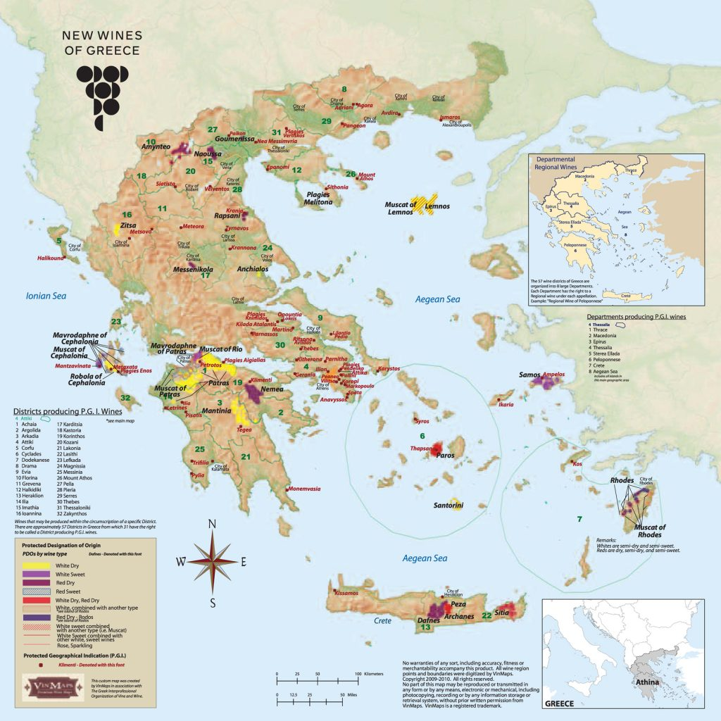Map New Wines of Greece