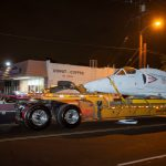 A-4M Skyhawk aircraft makes its move to Heroes Hall