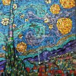 Starry Night Mosaic by Anna Miranda