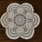 Filet Crochet Rose Centerpiece Doily by Brianna Shepherd