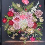 Floral Ribbon Embroidery Vase by Lubov Gorchakova