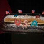 Happy Fourth Strawberry Cream Cake Roll by Dolores M. Sahelian