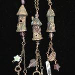 Bronze Clay Fairy Towers by Kathy Davis