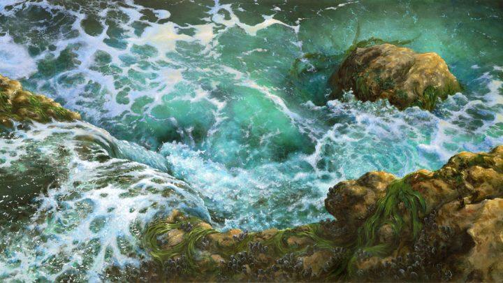 painting of tidal waters receding